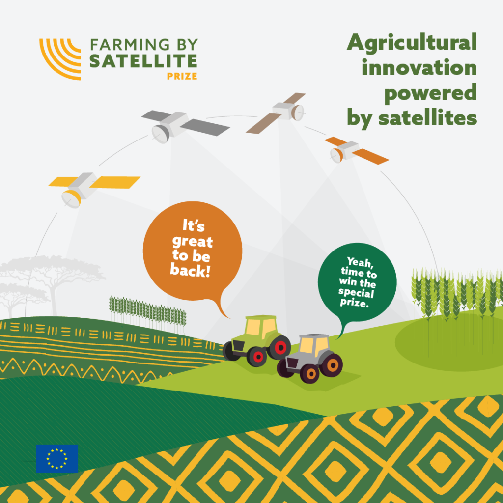 The Farming by Satellite Prize challenges you to improve agriculture with EU satellite technologies